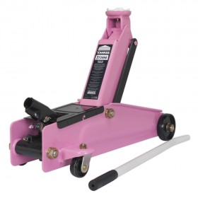 Sealey 1153CXP Trolley Jack 3t Long Chassis Heavy-Duty Pink