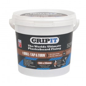 GripIt Brown Plasterboard Fixings M6 x 30mm - Tub 100