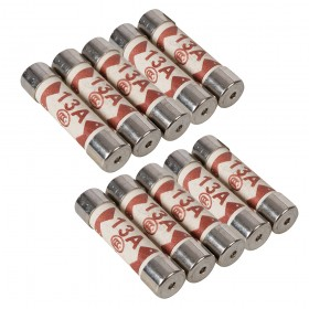 Powermaster 13A Plug Top Fuses (Pack of 10) - 374103