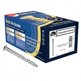 Multi-Fix Concrete Screws Countersunk - Zinc