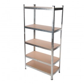 Boltless Shelving, 5 Levels, 1800h x 900w x 400d mm, 175kg UDL Galvanised