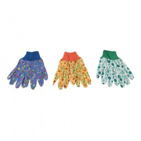 Silverline Floral Gardening Gloves 3pk Medium - 896865