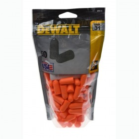 Dewalt DPG12 Disposable Foam Ear Plugs SNR 32dB (50 Pairs)
