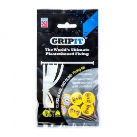 GripIt Plasterboard Curtain & Blind Fixing Kit 7pce