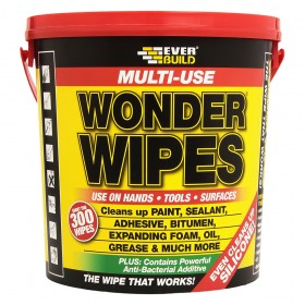 Everbuild Multi Purpose Wonder Wipes - 300 Wipes