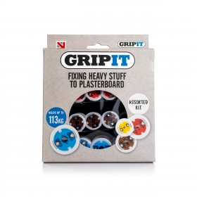 GripIt Assorted Plasterboard Fixings 32 Piece Set