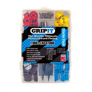 Grip It Starter Kit Plasterboard Fixings 40 Piece Set