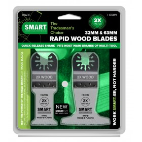 SMART Trade 2 Piece Rapid Wood Multi Tool Blade Set H2RWK