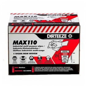 Dirteeze MAX110 Heavy Duty Industrial Wipes (160 Wipes)