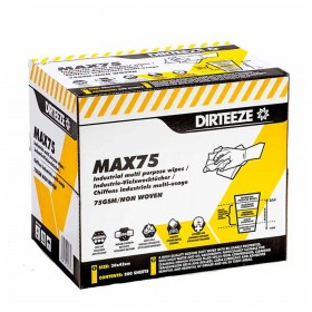Dirteeze MAX75 Medium Duty Industrial Wipes (200 Wipes)
