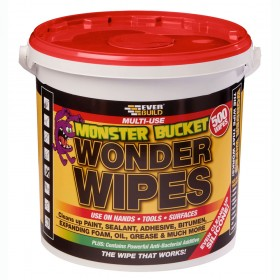Everbuild Wonder Wipes Monster Bucket 500 Wipes