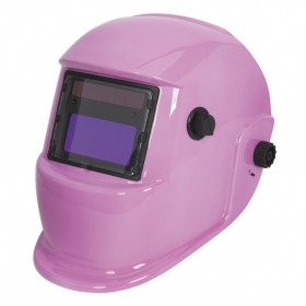 Sealey PWH598P Welding Helmet Auto Darkening Shade 9-13 - Pink