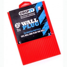 GripIt Multi Size Red Wall Plug Sheet or Hole Repair Sheet (Pack of 5)