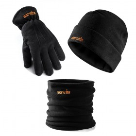 Scruffs Winter Essentials Pack Vital Accessories Fleece Hat, Neck Warmer and Gloves T54874