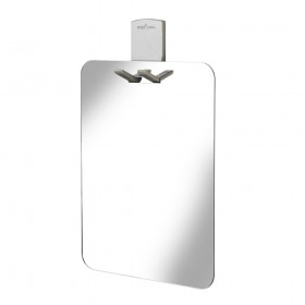 Croydex AJ401841 Shower Mirror with Razor Holder