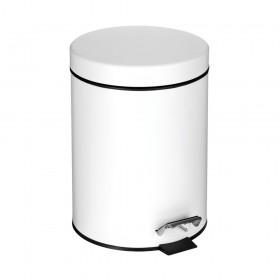 Croydex AJ667322 White 5 Litre Pedal Bin