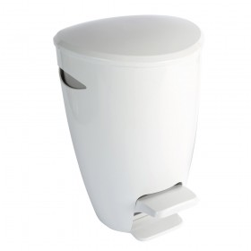 Croydex AJ670122 Plastic Bathroom Bin White & Grey