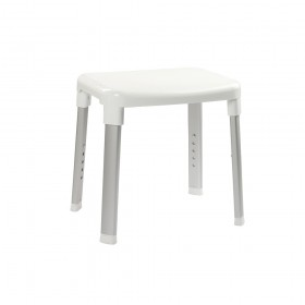 Croydex AP130522 Large White Adjustable Shower Stool