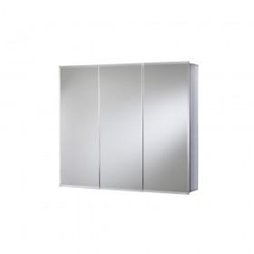 Croydex WC102322 Westbourne Triple Door Tri-View White Steel Cabinet