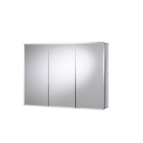 Croydex WC102622 Burwell Triple Door Tri-View White Steel Cabinet