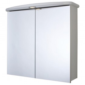 Croydex WC146122E Thames Double Door White Illuminated Cabinet without Hang N Lock