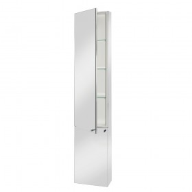 Croydex WC796005 Nile Tall Stainless Steel Cabinet
