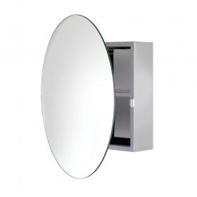 Croydex WC836005 Severn Circular Stainless Steel Cabinet