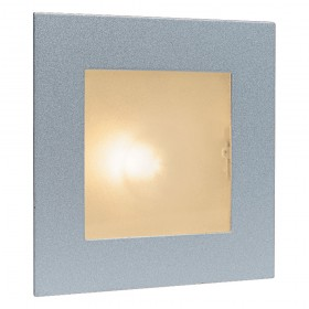 Firstlight Wall & Step Light Satin Steel with Glass Cover