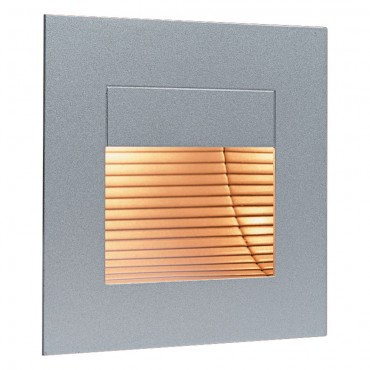 Firstlight Wall & Step Light Satin Steel without Glass Cover