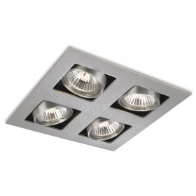 Firstlight 1504BS Cube 4 Light Square Downlight Brushed Steel