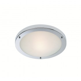 Firstlight Rondo Flush Fitting Chrome with Opal Glass