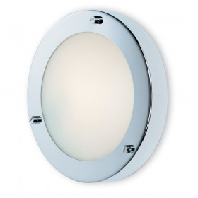 Firstlight Rondo Wall / Flush Fitting Chrome with Opal Glass