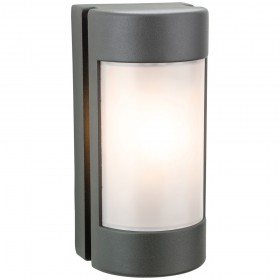 Firstlight Arena Wall Light Graphite with Opal Polycarbonate Diffuser