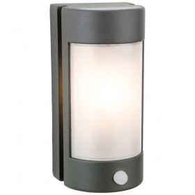 Firstlight Arena Wall Light with PIR Graphite with Opal Polycarbonate Diffuser
