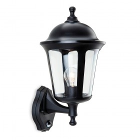 Firstlight 3481BK Boston Lantern - Uplight with PIR Black