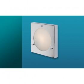 Firstlight Nova Wall / Flush Fitting Chrome with Opal Glass