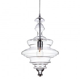 Firstlight 5900CH Florence Pendant Chrome with Clear Glass