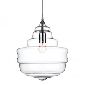 Firstlight 5901CH Lazio Pendant Chrome with Clear Glass