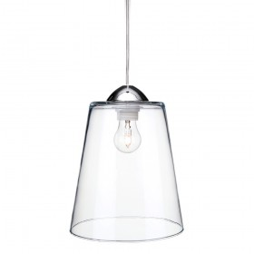 Firstlight 5905CH Bordeaux Pendant Chrome with Clear Glass