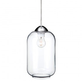 Firstlight 5906CH Bordeaux Pendant Chrome with Clear Glass