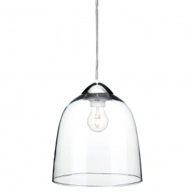 Firstlight 5907CH Bordeaux Pendant Chrome with Clear Glass