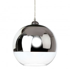 Firstlight 5908CH Club Pendant Chrome and Clear Glass