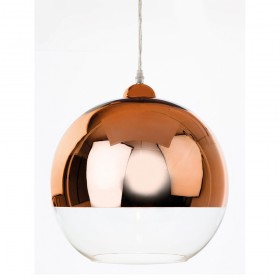 Firstlight 5908CP Club Pendant Copper and Clear Glass