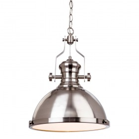 Firstlight 5909BS Albion Pendant Brushed Steel