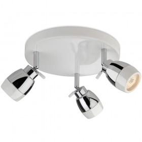 Firstlight Marine 3 Light Flush White with Chrome