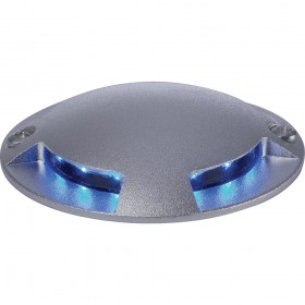 Firstlight 4 Way LED Walkover Light Aluminium with Blue LED's
