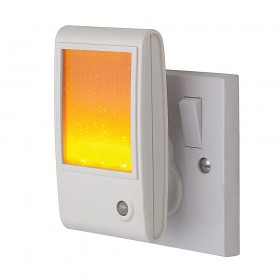 Firstlight LED Sparkle Night Light White with Amber LED