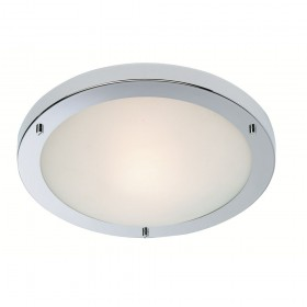 Firstlight Rondo LED Flush Fitting Chrome with Opal Glass