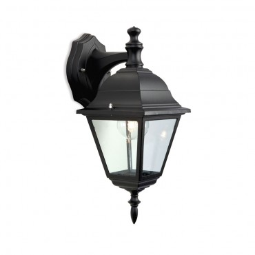 Firstlight 4 Panel Lantern - Downlight Black