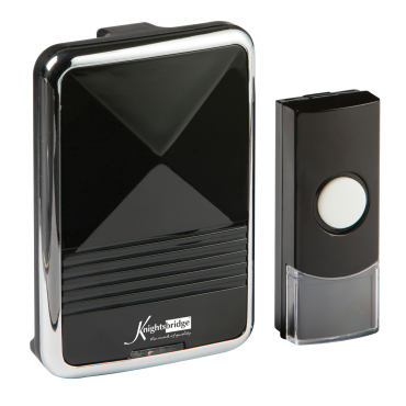 Knightsbridge DC001  Wireless Door Chime - Black (200M Range)